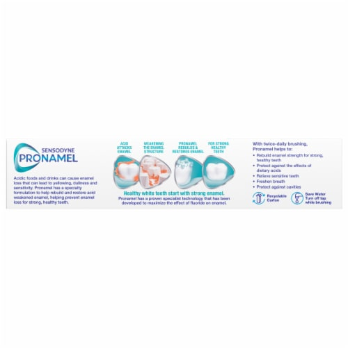 Sensodyne Pronamel Gentle Whitening Alpine Breeze Sensitivity Toothpaste Perspective: bottom