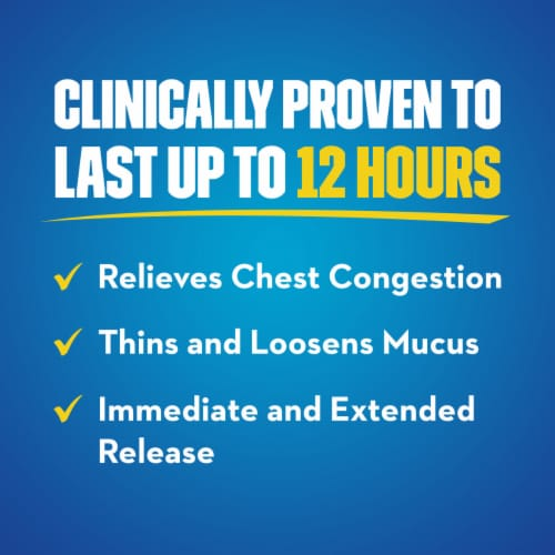 Mucinex 12 Hour Chest Congestion Expectorant Medicine Extended Release Bi-Layer Tablets Perspective: bottom
