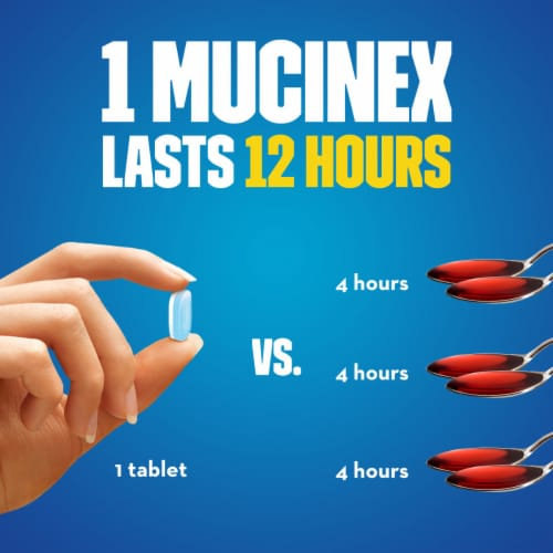 Mucinex Maximum Strength 12-Hour Chest Congestion Expectorant Relief Medicine 1200mg Tablets Perspective: bottom