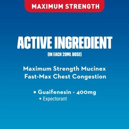 Mucinex FastMax Honey & Berry Flavor Chest Congestion Liquid Perspective: bottom