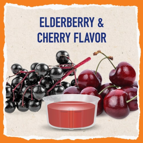 Mucinex Children's Freefrom Multi-Symptom Elderberry & Cherry Flavor Cold Flu & Sore Throat Liquid Perspective: bottom