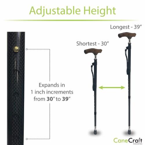 Carbon Fiber Ultra Lightweight Adjustable Cane - Black Perspective: bottom