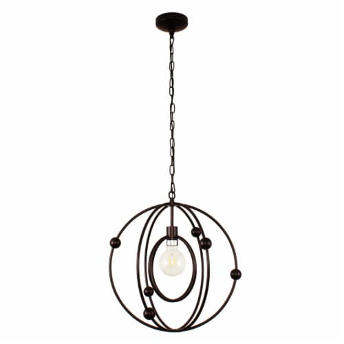 Lighting IRONCLAD Farmhouse 1 Light Oil Rubbed Bronze Ceiling Pendant 18  Wide Perspective: bottom