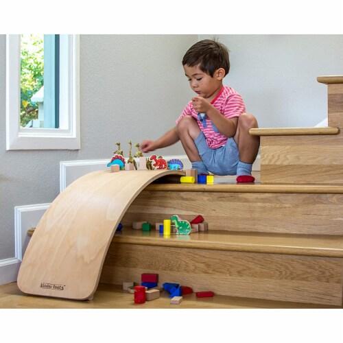 Kinderfeets Original Kinderboard Versatile Waldorf Wood Balance Board, Natural Perspective: bottom
