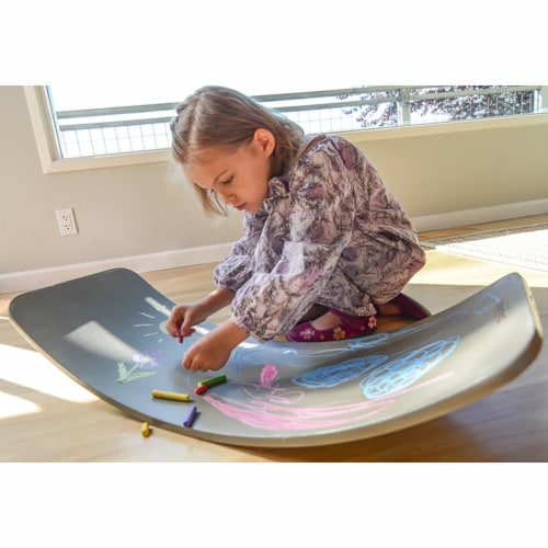 Kinderfeets Original Kinderboard Versatile Wood Balance Board, Chalkboard Perspective: bottom