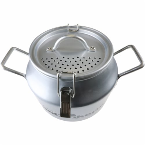 CanCooker Non Stick Cooking Pot Liquid Strainer Lid, 1 Size, Brushed Aluminum Perspective: bottom