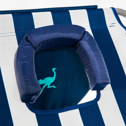 Ostrich Comfort Lounger Face Down Sunbathing Chaise Lounge Beach Chair, Stripes Perspective: bottom