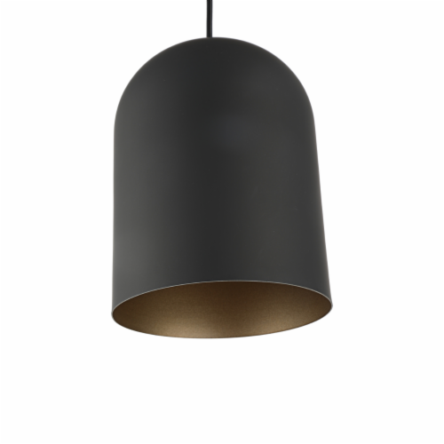 Lighting IRONCLAD Contemporary-Style 1 Light Black and Gold Ceiling Mini Pendant 8  Wide Perspective: bottom