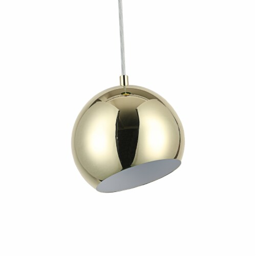 Lighting IRONCLAD Contemporary-Style 1 Light Plated Gold Ceiling Mini Pendant 8  Wide Perspective: bottom