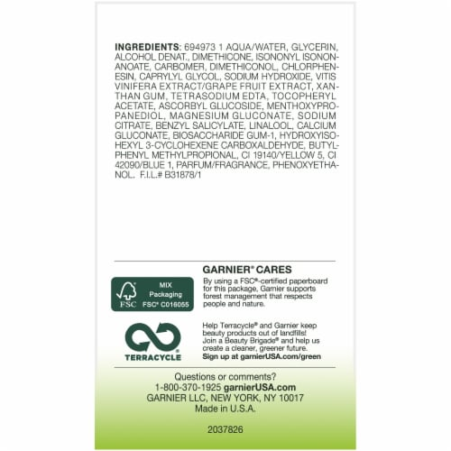 Garnier Moisture Rescue Refreshing Gel Cream Perspective: bottom