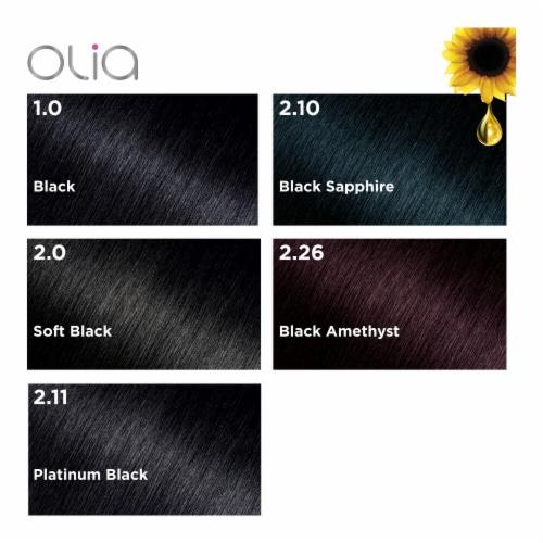 Garnier® Olia® 1.0 Black Permanent Hair Color Perspective: bottom