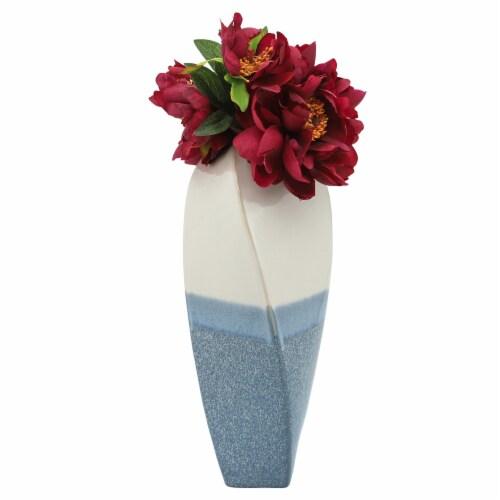 Cer, 18 H Twisted Vase Skyblue Perspective: bottom