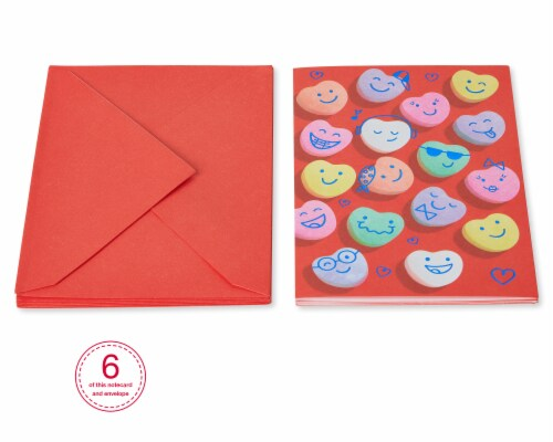 American Greetings #57 Valentine's Day Cards (Smiley Face) Perspective: bottom