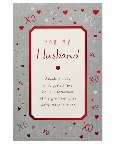 American Greetings #63 Valentine's Day Card for Husband (Great Memories) Perspective: bottom