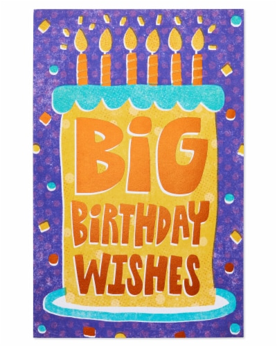Amercan Greetings #59 Birthday Card (Sweet Birthday Wishes) Perspective: bottom
