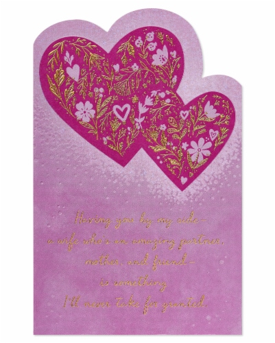 American Greetings #58 Mother's Day Card for Wife (Hearts) Perspective: bottom