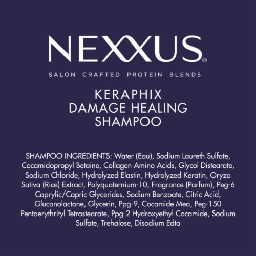 Nexxus® Silicone-Free Keraphix with ProteinFusion Black Rice Shampoo for Damaged hair Perspective: bottom