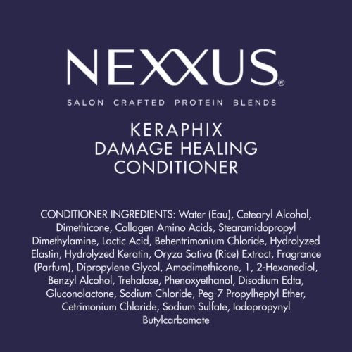 Nexxus Silicone-Free Keraphix with ProteinFusion Conditioner for Damaged Hair Perspective: bottom