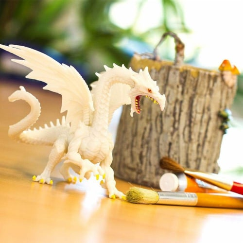 Glow-in-the-Dark Snow Dragon Toy Perspective: bottom