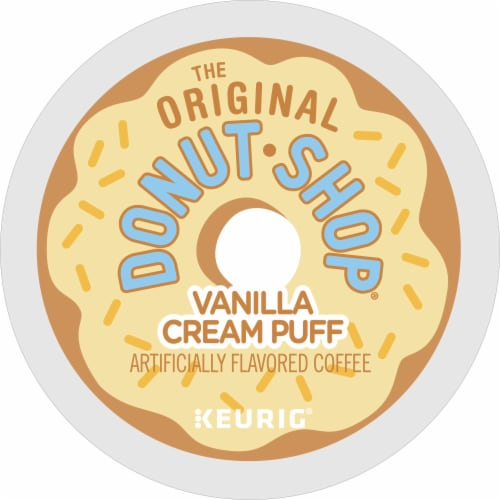 The Original Donut Shop Vanilla Cream Puff Coffee K-Cup Pods Perspective: bottom