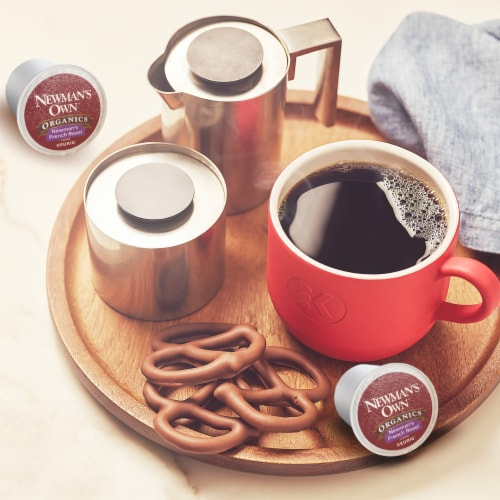 Newman's Own Organic French Roast K-Cup Pods Perspective: bottom