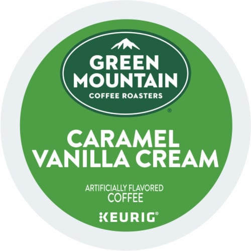 Green Mountain Coffee Caramel Vanilla Cream Coffee K-Cup Pods Perspective: bottom