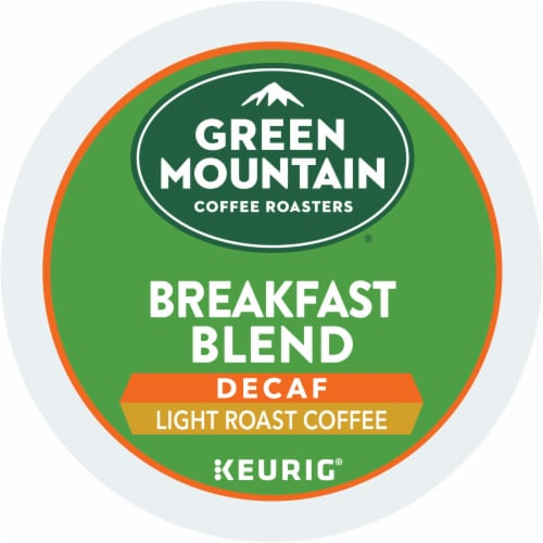 Green Mountain Coffee Roasters Breakfast Blend Decaf Light Roast K-Cup Pods Perspective: bottom