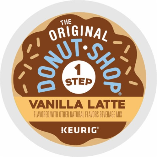 The Original Donut Shop Vanilla Latte K-Cup Pods Perspective: bottom