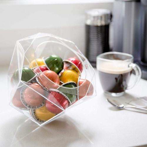 Verre Collection Hexagon Plexiglass Capsule Pod Holder, Compatible for Nespresso Vertuoline Perspective: bottom