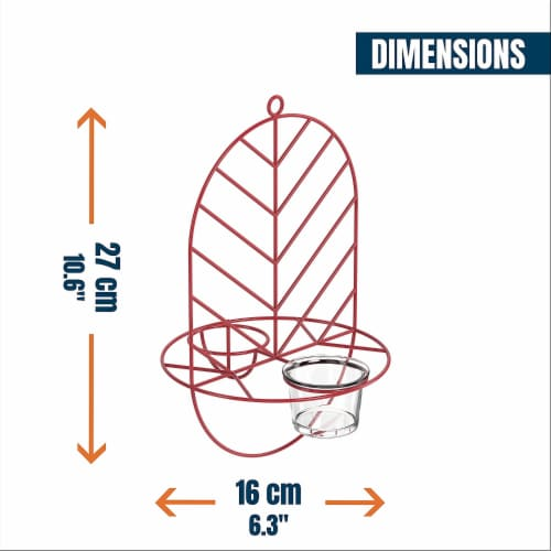MEKKAPRO Leaf Oriole Bird Feeder, Dual Jelly Orange Feed, Fits Clementine Nectar (Coral Red) Perspective: bottom