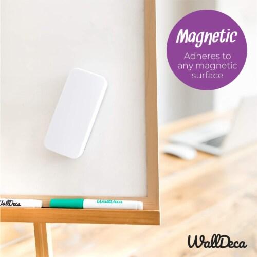 WallDeca Magnetic Premium Dry Eraser, Felt Bottom Surface, Made for White Boards (White) Perspective: bottom