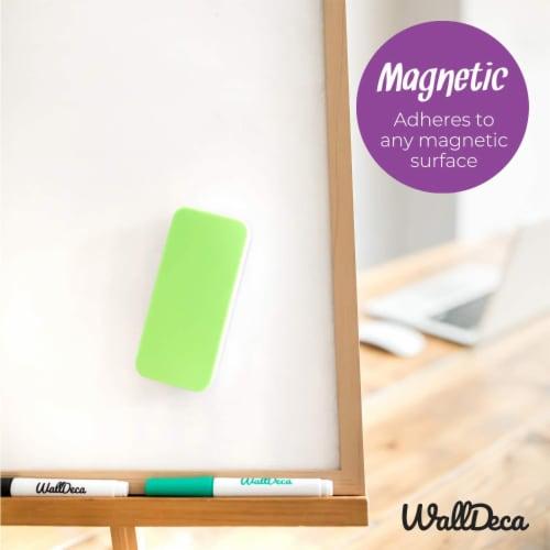 WallDeca Magnetic Premium Dry Eraser, Felt Bottom Surface, Made for White Boards (Green) Perspective: bottom