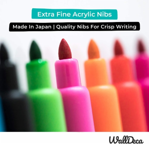WallDeca Low-Odor Dry Erase Markers, Fine Tip, Assorted 13 Colors, Whiteboard Marker Pens Perspective: bottom