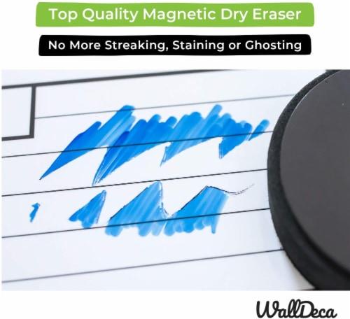WallDeca Monthly Dry Erase Wall Calendar Planner Whiteboard: Wipe Off Erasable Calendar Perspective: bottom