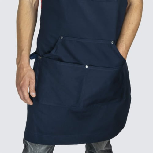 Chef Pomodoro Kitchen Apron - Adjustable Pockets, Bibs - Designed for Home, BBQ, Grill Use Perspective: bottom
