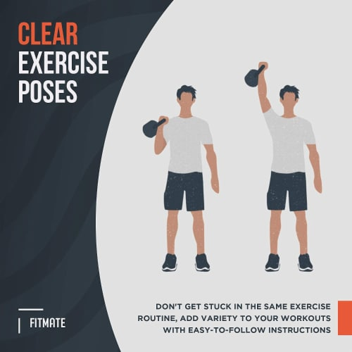 FitMate Kettlebell Workout Exercise Poster - Workout Routine Perspective: bottom