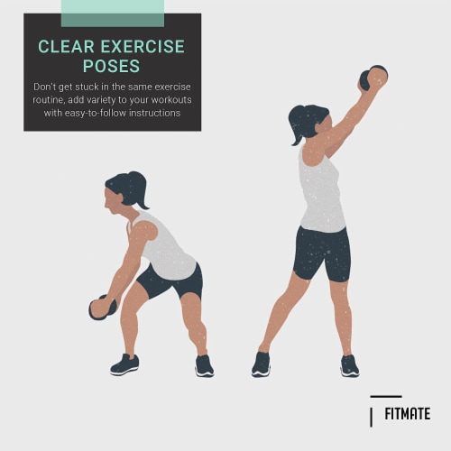 FitMate Dumbbell and Barbell Bundle Workout Exercise Poster - Workout Routine Perspective: bottom