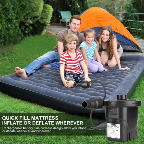 AGPtek Rechargeable Electric Air Pumps 4inch for Inflatables Swimming Ring Mattresses Beds Perspective: bottom