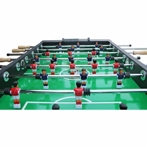 KICK Triumph 55 Inch Recreational Multi Person Soccer Game Foosball Table, Black Perspective: bottom