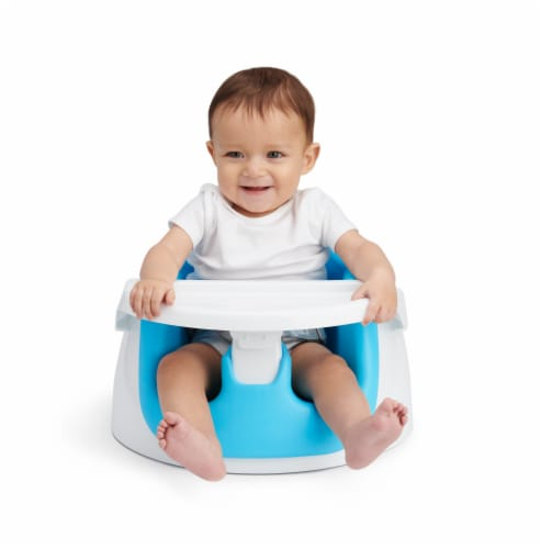Regalo 2 in 1 Booster Seat and Grow with Me Floor Seat Activity Chair - Blue Perspective: bottom