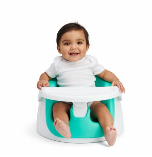 Regalo 2 in 1 Booster Seat and Grow with Me Floor Seat Activity Chair - Green Perspective: bottom