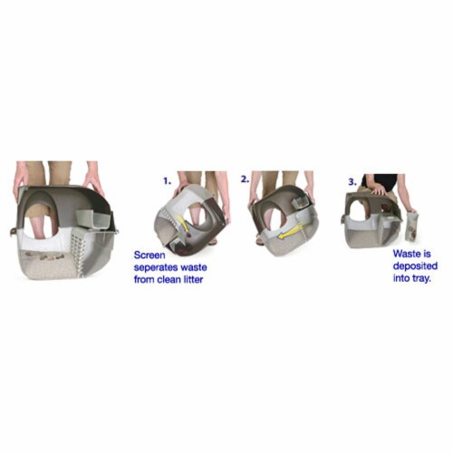 Omega Paw PR-RA15-1 Roll N Clean Self Separating Self Cleaning Litter Box, Blue Perspective: bottom