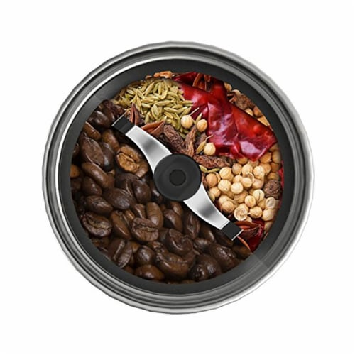 Ninja®  Coffee & Spice Grinder with Auto-IQ™ Stainless Steel Black Perspective: bottom
