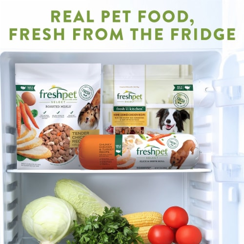 Freshpet Select Fresh from the Kitchen Home Cooked Chicken Recipe Dog Food Perspective: bottom