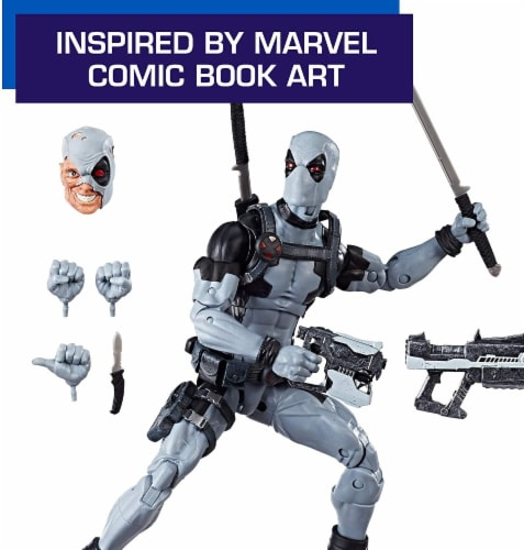 Marvel Legends Premium 12 Inch Deadpool X-Force Action Figure Perspective: bottom