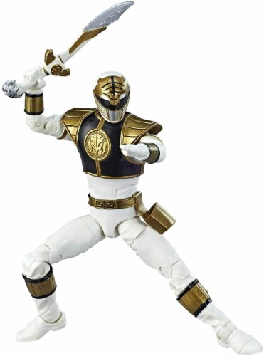 Power Rangers Lightning Collection 6 Inch Action Figure | White Ranger Perspective: bottom