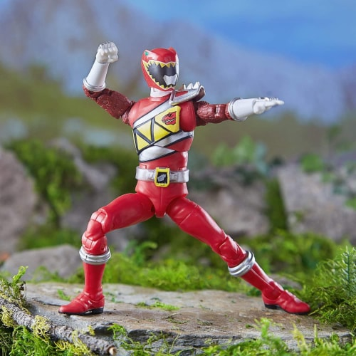 Power Rangers Lightning Collection 6 Inch Action Figure | Red Ranger Perspective: bottom