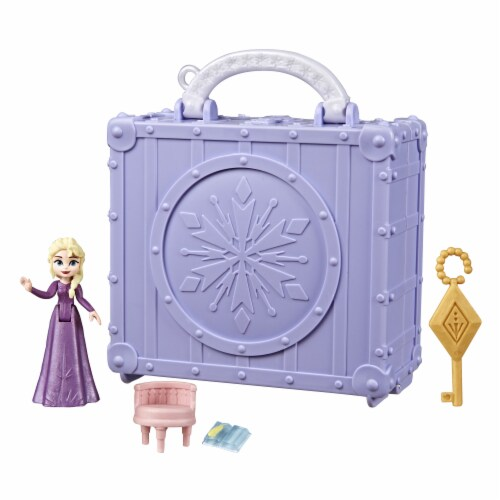 Hasbro Frozen 2 Pop Adventures Elsa's Bedroom Pop-Up Playset Perspective: bottom