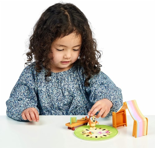 Bluey Playroom Action Figure Playset | Includes Bingo Perspective: bottom