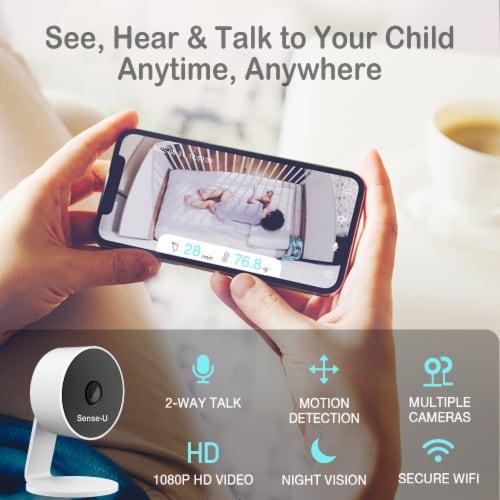 Sense-U Video+Breathing Baby Monitor 2: Breathing, Body Temp, Sleep Position, Video, Anywhere Perspective: bottom